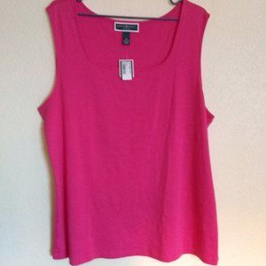 Pink 100% Cotton Tank Top